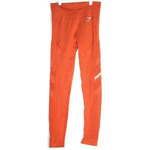 Gymshark Womens Flawless Knit Orange Leggings XS